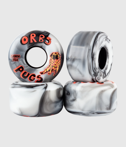 Orbs Orbs Pugs 85A Soft Black/White Skateboard Wheel 54mm