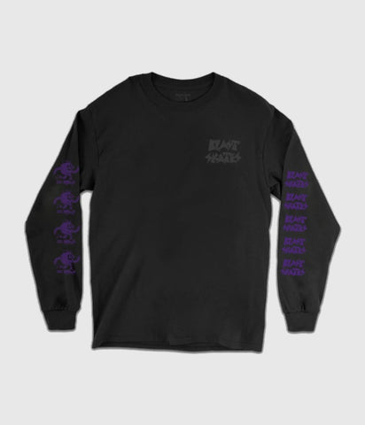 Blast Skates Smasher Long Sleeve Tee Black