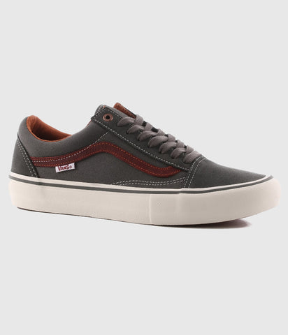 Vans Old Skool Pro Skate Shoes Gunmetal/Burnt Henna