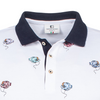 Giordano RICCARDO SS POLO SHIRT Stereo Fish Polo - White 106594