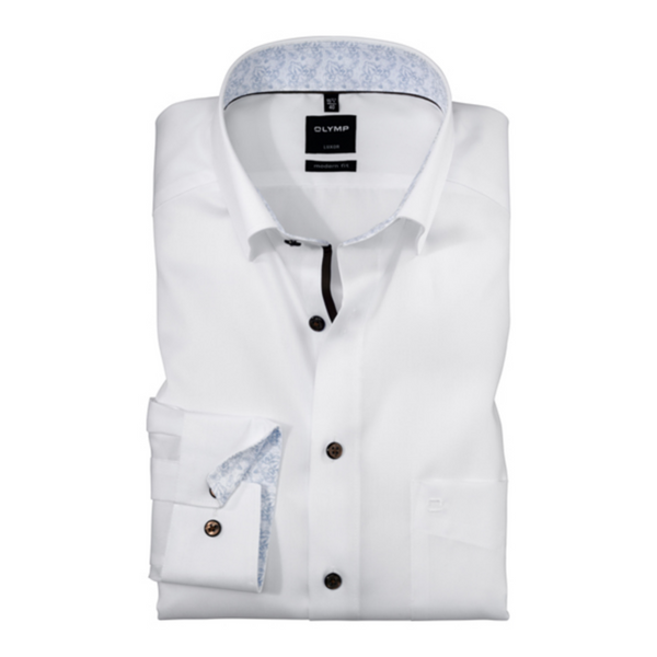 Olymp Men's Modern Fit Egyptian Cotton Non-Iron Under Button Down Shirt 1244/24/00