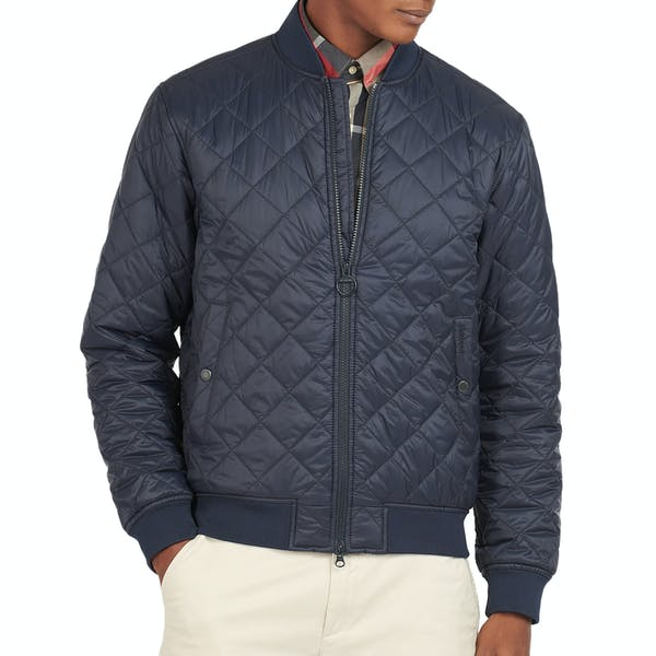 Barbour Gabble Quilted Jacket Navy MQU1178