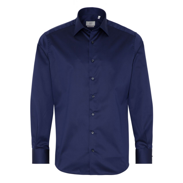 ETERNA LONG SLEEVE SHIRT MODERN FIT TWILL NAVY BLUE 1863