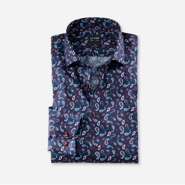 Olymp Body Fit Paisley Stretch Shirt 2076/64/30