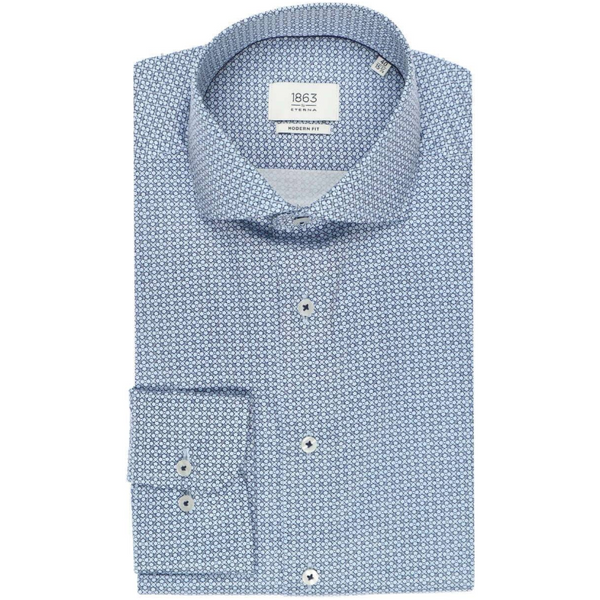 ETERNA 1863 MODERN FIT SHIRT MARINE PATTERNED 3968.X682.68.18