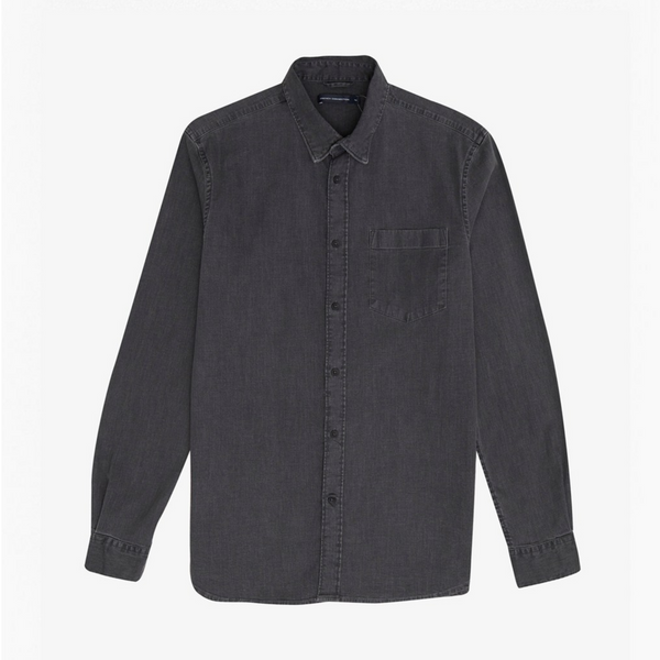 French Connection Winter Black Wash Denim Shirt - 52PAY