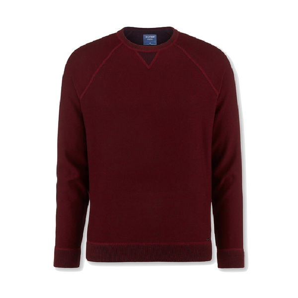 OLYMP Knitwear Crew Neck Jumper Dark Red 5320/45/39