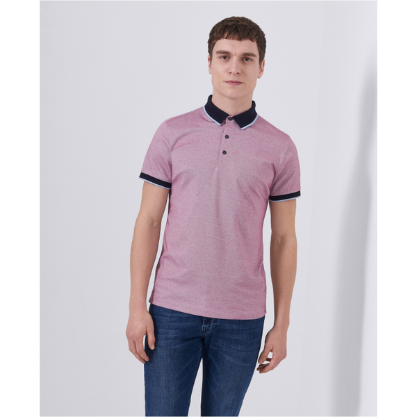 Remus Tapered Fit Cotton-Stretch Pique Polo Shirt 58375