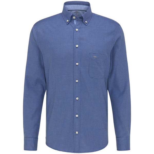Fynch Hatton Super Soft Cotton Shirt 11216110 - Navy Blue
