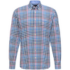 Fynch Hatton 1220-8030 Supersoft Cotton Shirt with Chequered Pattern - Dragonfruit-Blue