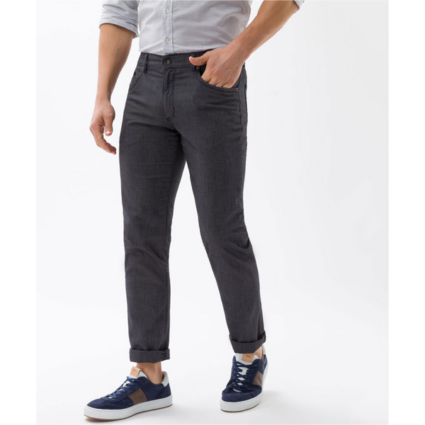 Brax Cadiz Straight Cotton Jeans 82-1527 - Charcoal