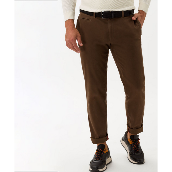 Brax Hi-FLEX ultra-elastic slim chinos Fabio - Brown 85-1647