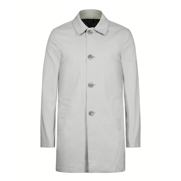 Remus Uomo Mens Light Grey Daryl Tailored Coat 90221