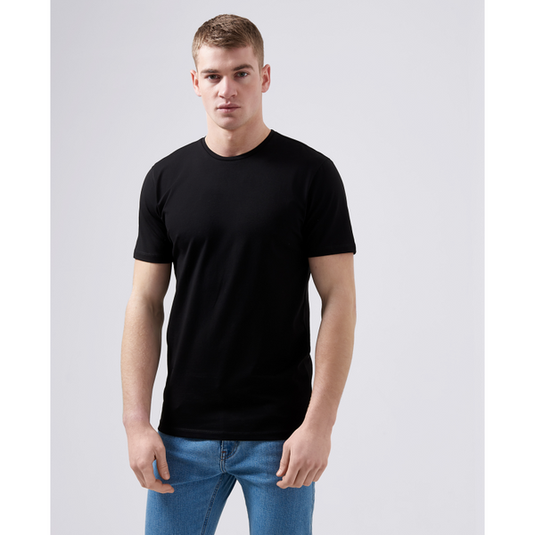 Remus Uomo Short Sleeve Casual T-Shirt Soft and Stretchy Luxurious Feel 53121 - Black