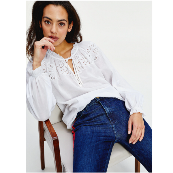 Tommy Hilfiger RELAXED FIT EMBROIDERY DETAIL RUTH BLOUSE  28162