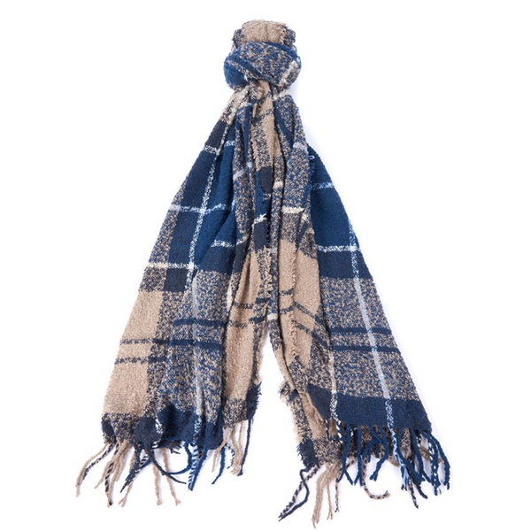 Barbour Boucle Scarf LSC0120-Blue Trench