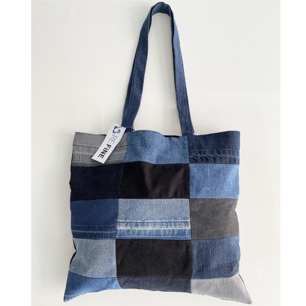Refine Denim Recycled Patchwork Bag 03