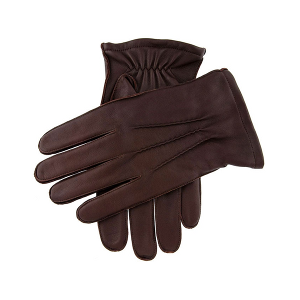Dents Mens Leather Gloves Dilton - Brown 5-1700
