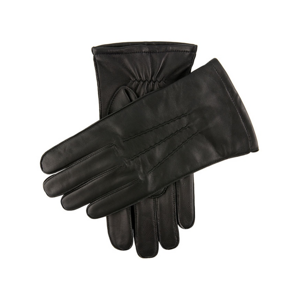 Dents Mens Leather Gloves Dilton - Black 5-1700