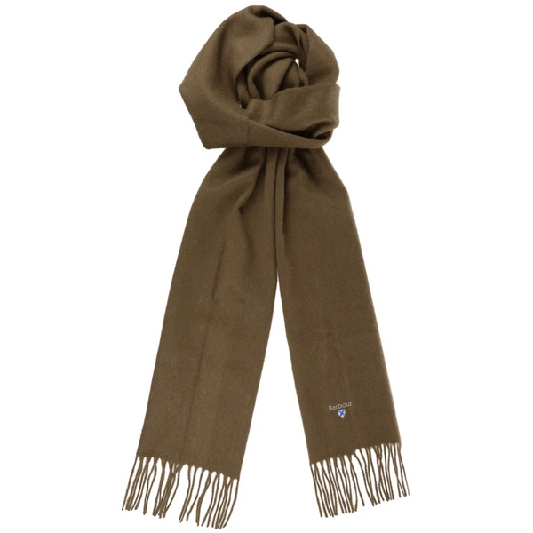 BARBOUR PLAIN LAMBSWOOL SCARF USC0008GN31 - fossil