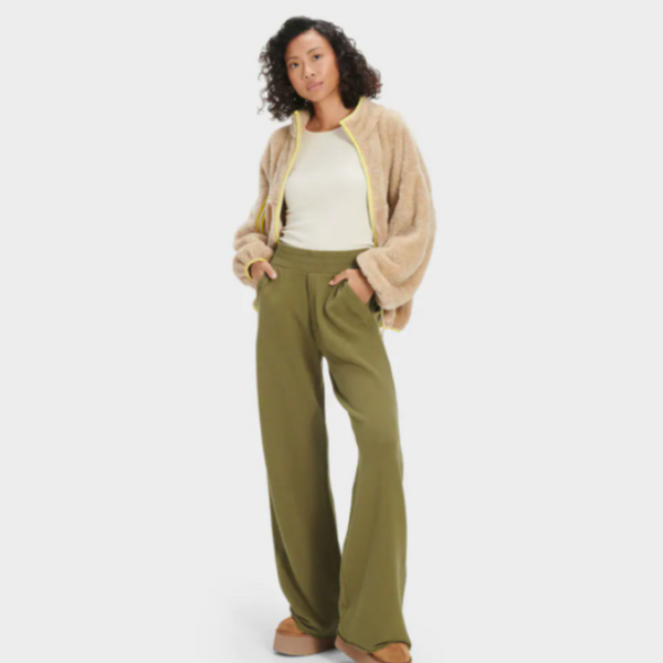GABI WIDE LEGGED JOGGER IN OLIVE 7737