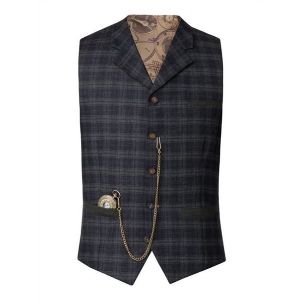 GIBSON LONDON TWEED CHECK WAISTCOAT G17220Tb