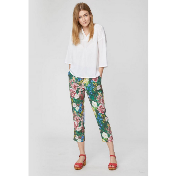 Thought Leolani Floral Print Tencel Trousers WSB4172