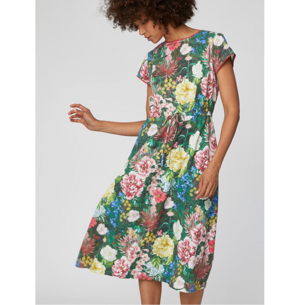 Thought Leolani Unique Floral Print Midi Dress WSD4162