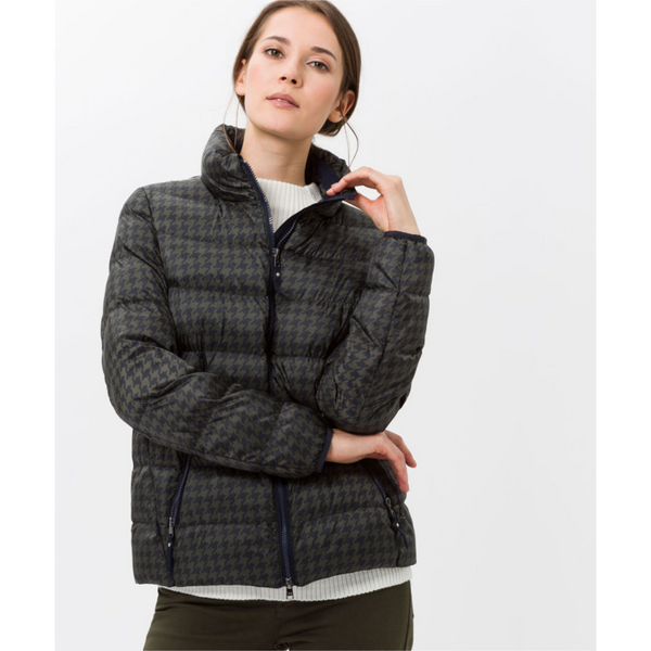 Brax Ultralight Houndstooth Quilted Coat Luzern 95-6327