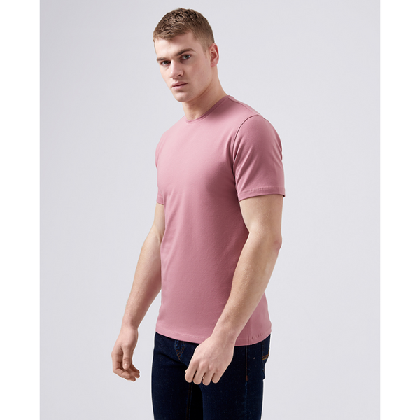 Remus Uomo Short Sleeve Casual T-Shirt Soft and Stretchy Luxurious Feel 53121 - Pink