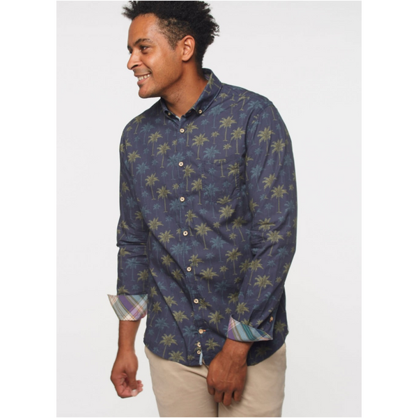 Colours & Sons WILSON COTTON SHIRT OASIS OF TREES 9218-1700