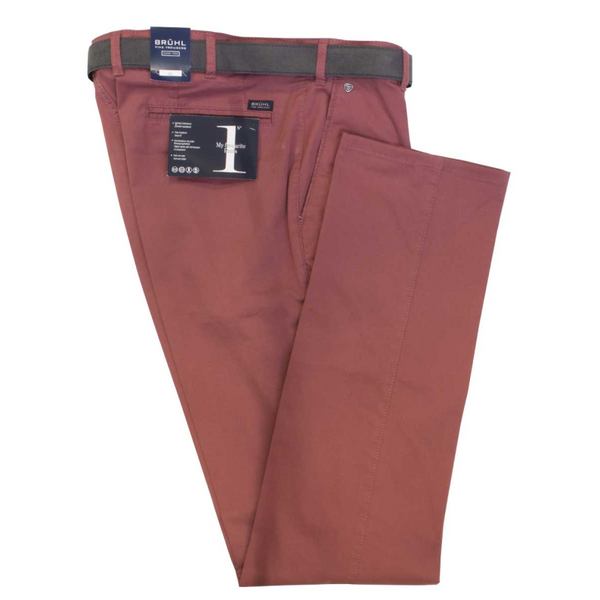 BRUHL MEN'S LIGHTWEIGHT CHINOS 183840 PARMA B - RED