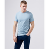 Remus Uomo Short Sleeve Casual T-Shirt Soft and Stretchy Luxurious Feel 53121 - Sky Blue