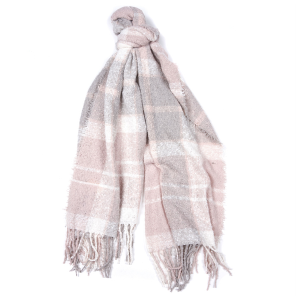 Barbour Boucle Scarf LSC0120-Soft Pink