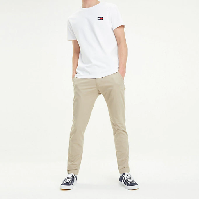 Tommy Jeans Stretch Organic Cotton Slim Scanton Chino DM0DM06518 - Simply Taupe