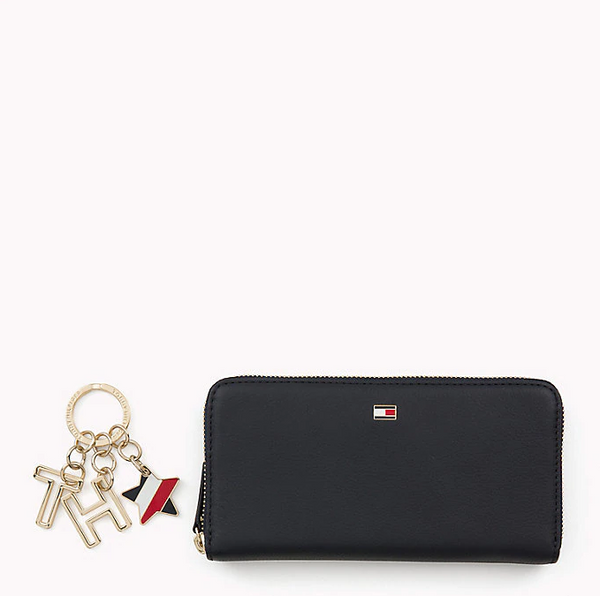 Tommy Hilfiger LEATHER WALLET AND KEYFOB GIFT SET 5992