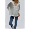 FRENCH CONNECTION CHOFA DRAPE V NECK SHIRT 72PAL