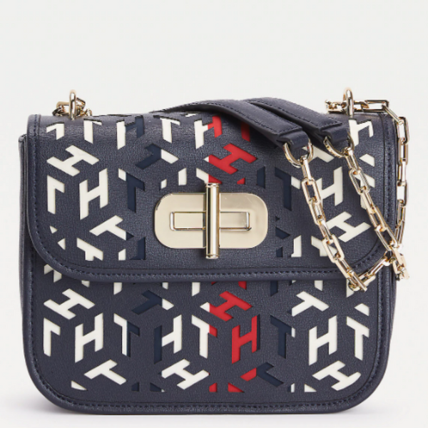 Tommy Hilfiger TURNLOCK CUT-OUT LEATHER CROSSOVER BAG 8639