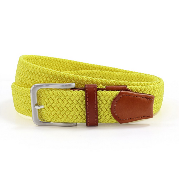 Sophos 855111 Plain Yellow Stretch Belt Leather End