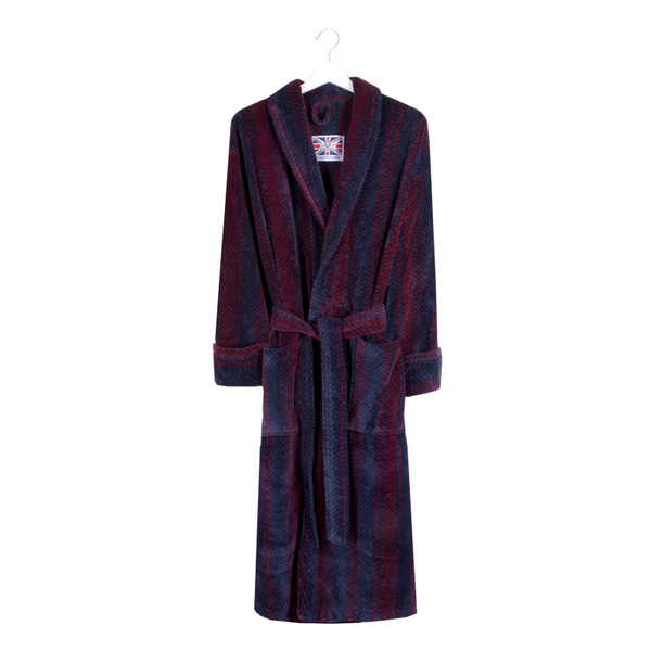 Bown Of London Luxurious Egyptian Cotton Velour Bathrobe Dressing Gown - Arbroath