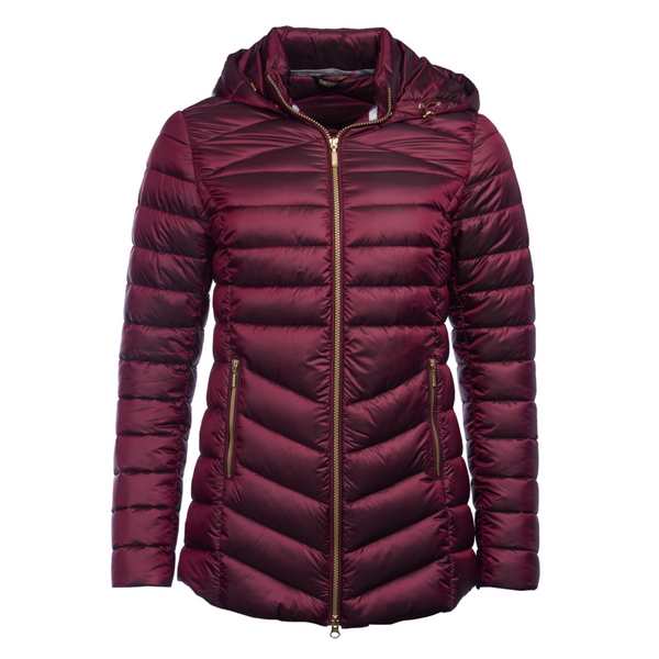 BARBOUR WOMEN'S AILITH QUILTED JACKET IN BERRY LQU0958