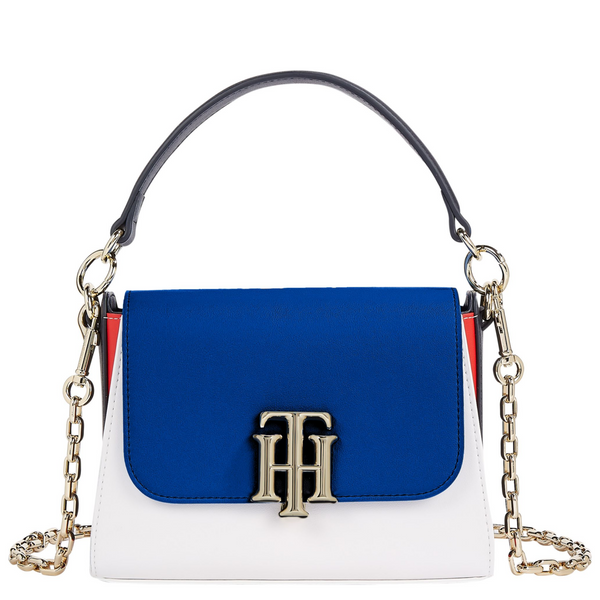 Tommy Hilfiger TH Lock Satchel with Chain Strap 9655