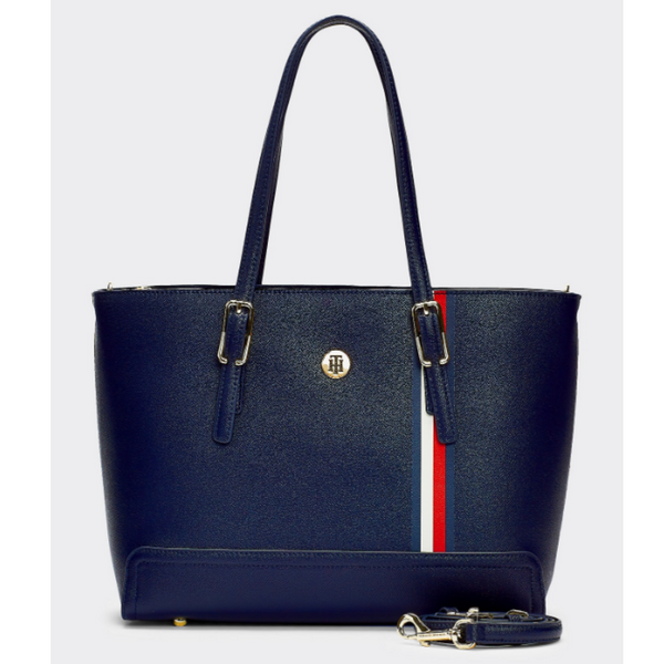 Tommy Hilfiger Honey Medium Plaque Tote 7933