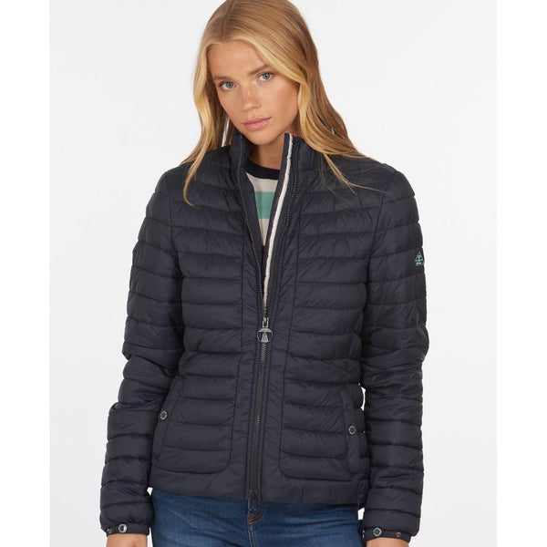 Barbour Runkerry Quilted Jacket in Navy LQU1286