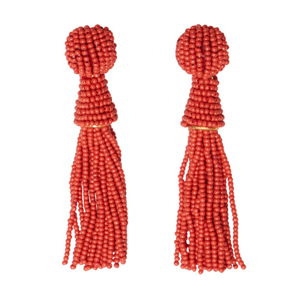 Part Two Lottie Beaded Tassel Earrings