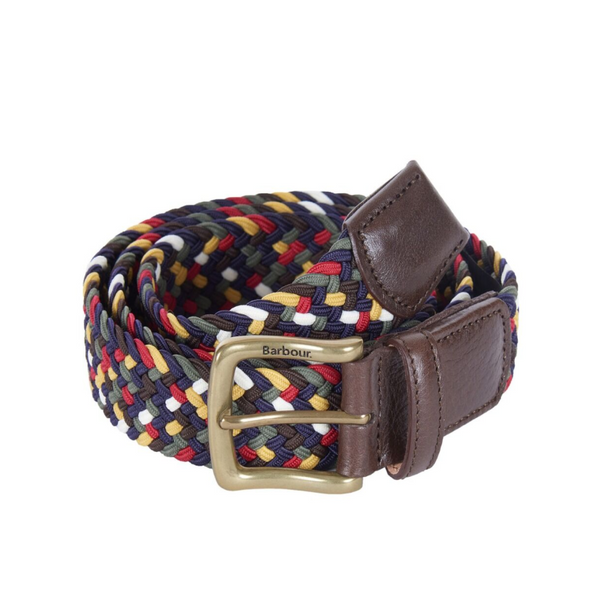 BARBOUR TARTAN COLOURED STRETCH BELT GIFT BOX CLASSIC MGS0028TN11