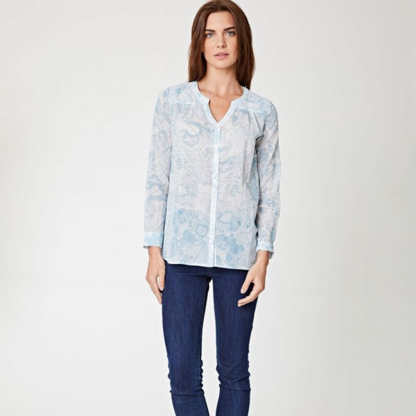 Thought Marina Button Up Summer Floral Top 3695