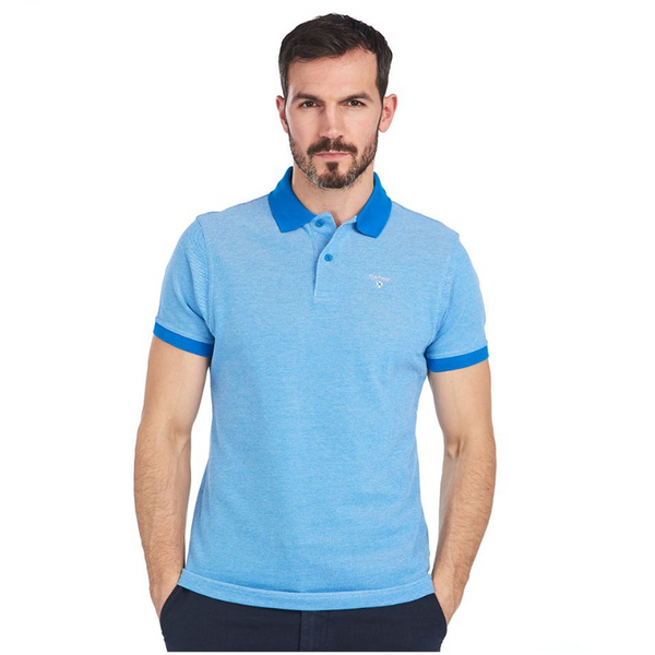 BARBOUR SPORTS MIX POLO SHIRT MML0628 Blue