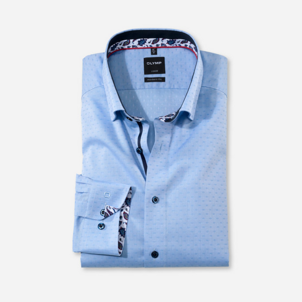Olymp Paisley Trim Egytian Cotton Shirt 1370/64/11