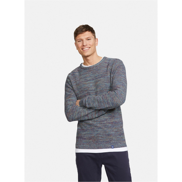 Colours And Sons - BLUE COTTON KNITTED SWEATER 9220-131